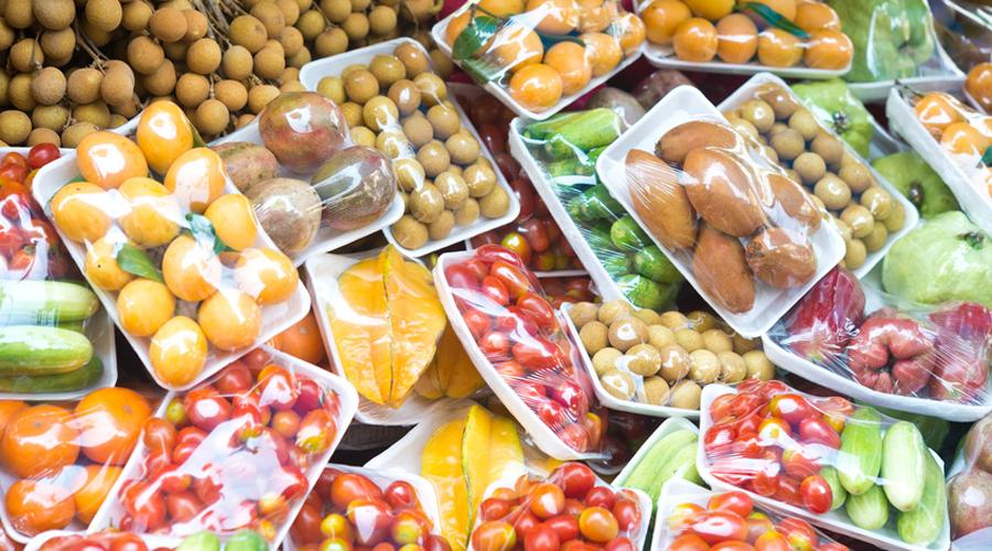 emballage plastique aliment fruits et légumes