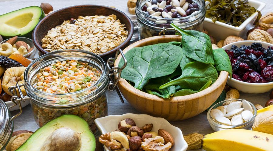 aliments riches en magnésium, épinards, graines