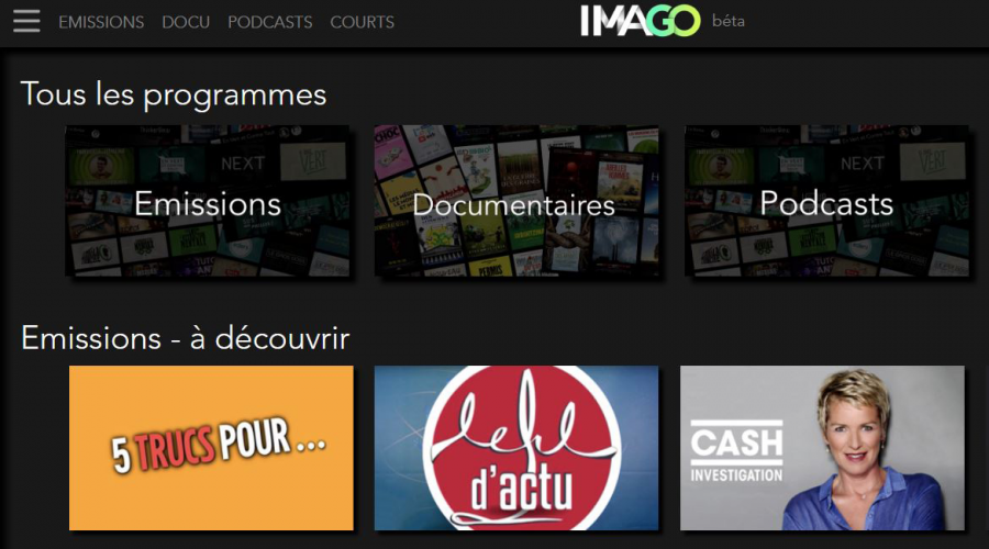 La plateforme Imago TV