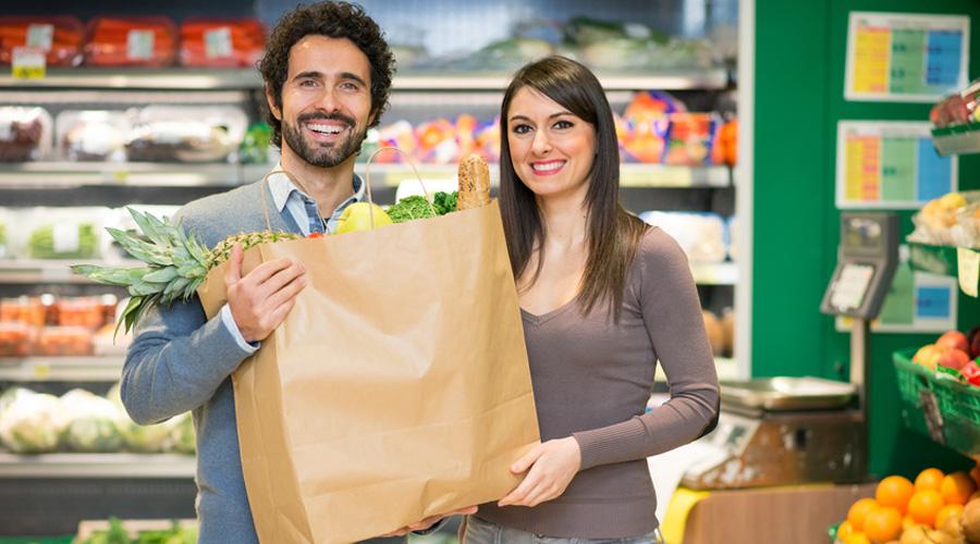 Fruits et légumes supermarché