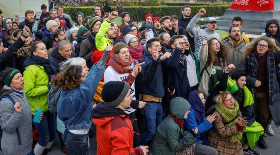 Manifestation Belgique pour le climat