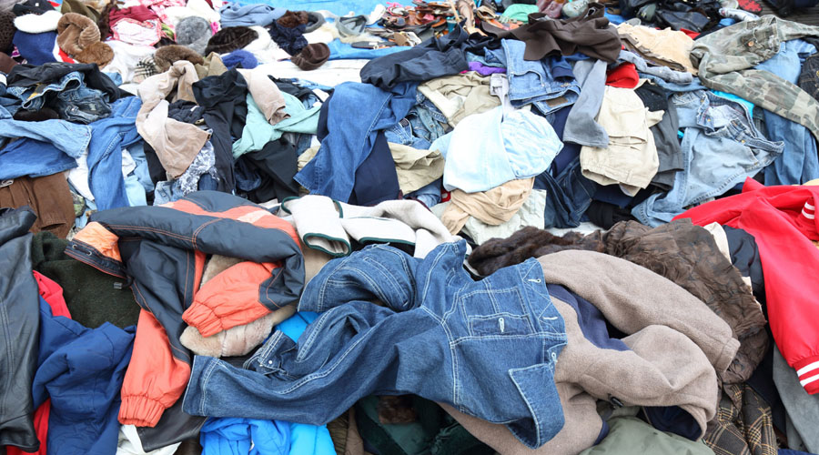 Vêtements déchets