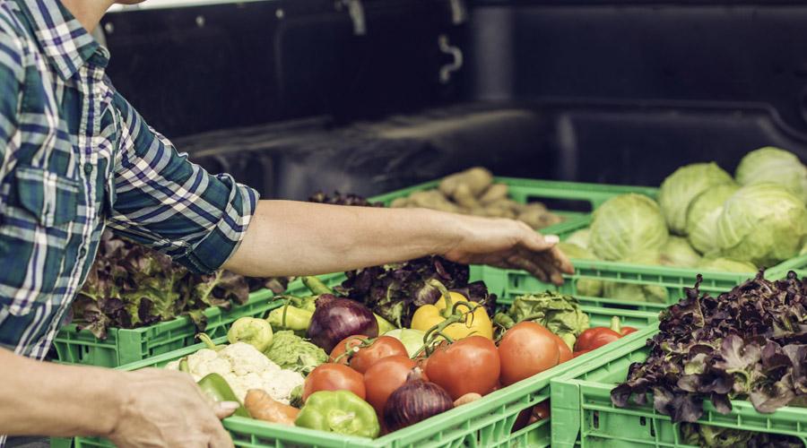 caisse de fruits et légumes