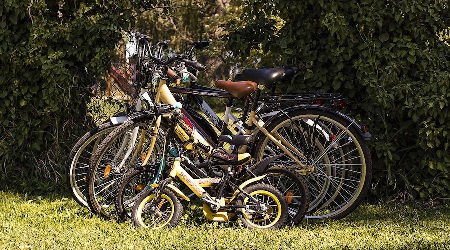 vélo pour toute la famille en vacances