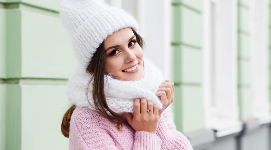femme en hiver