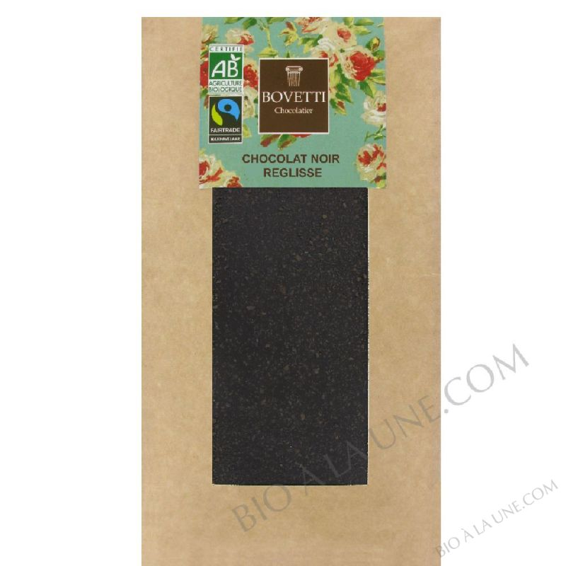 Chocolat noir & réglisse  - 100g