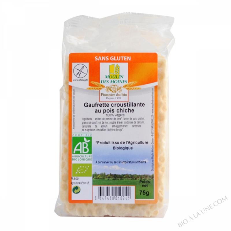 Gaufrette croustillante aux pois chiches Bio Sans gluten - 55g