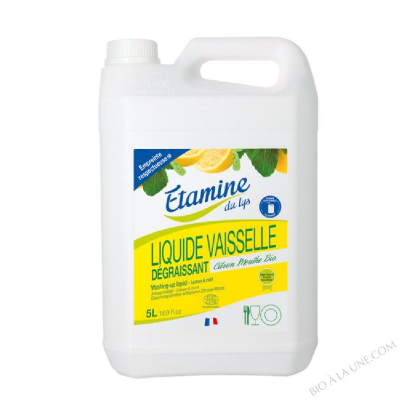 Liquide vaisselle citron-menthe 5L