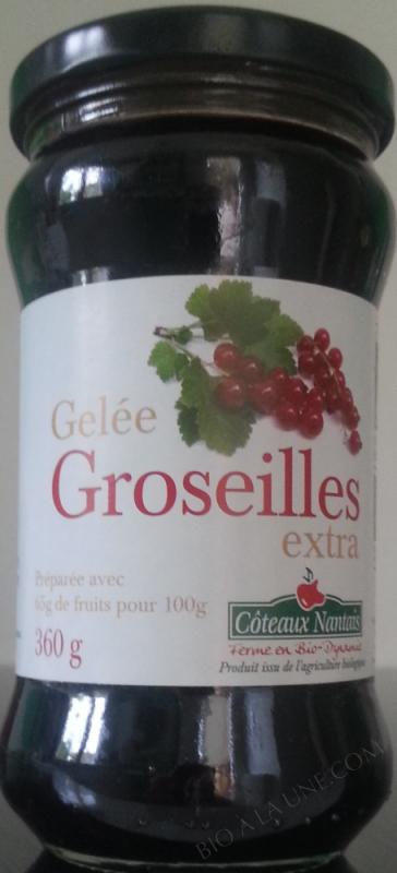 GELEE GROSEILLE EXTRA 360G COTEAUX NANTAIS