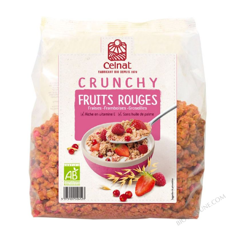 CELNAT Crunchy Fruits Rouges BIO - 500g
