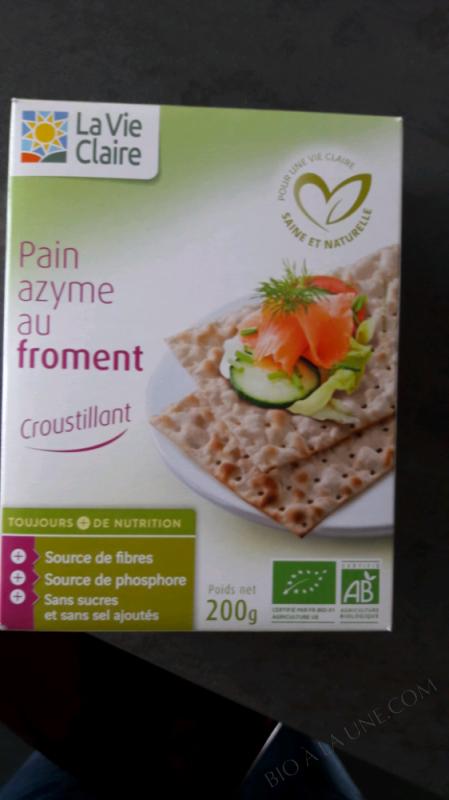 Pain Azyme Au Froment - La Vie Claire - 200 G