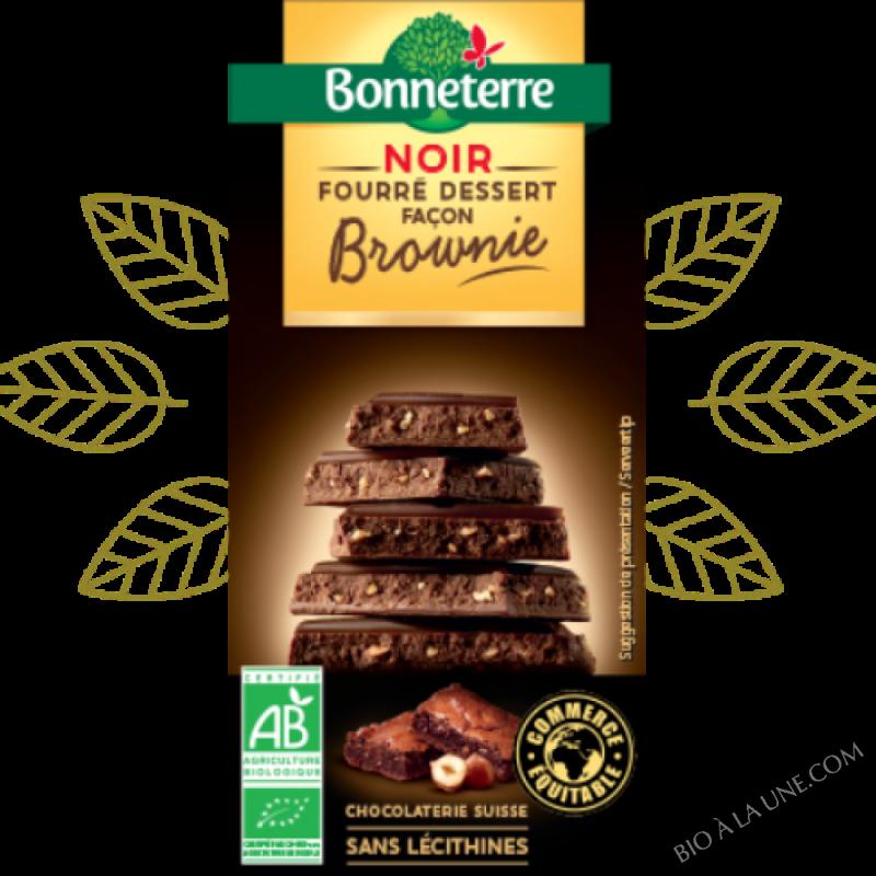 Chocolat Noir fourré dessert façon Brownie bio - 100 G