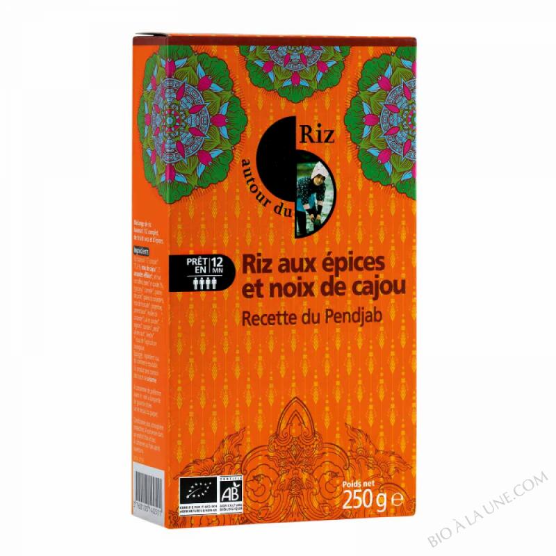 Riz Aux 7 Épices & Noix De Cajou Pendjab - 250G