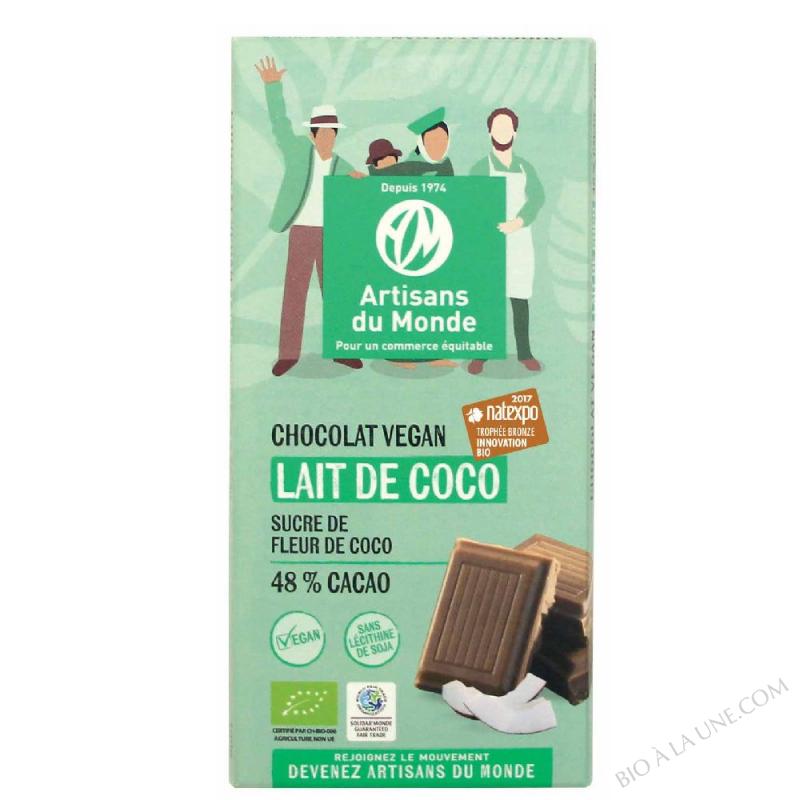 CHOCO. VEGAN LAIT COCO 100G ARTISAN