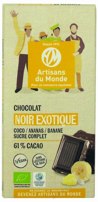 CHOCOLAT NOIR EXOTIQUE - 100G