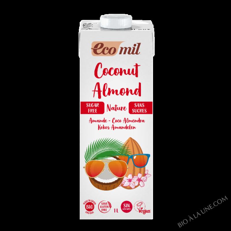 Boisson lait de coco-amande sans sucres - 1L