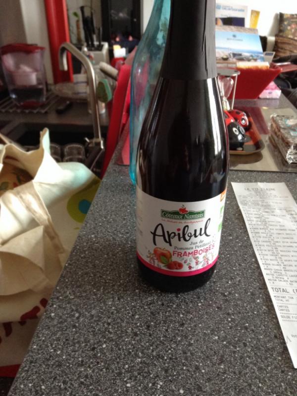 Apibul Jus De Pommes Pétillant & Framboises -  75Cl