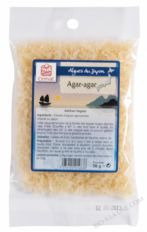 AGAR-AGAR - GÉLIFIANT VÉGÉTAL -FLOCONS 30G