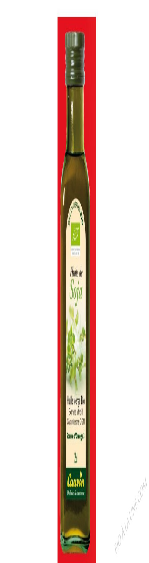 HUILE VIERGE DE SOJA - 250 ML