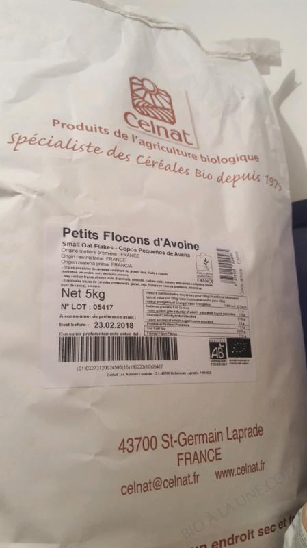 CELNAT Petits Flocons d'Avoine BIO - 5KG