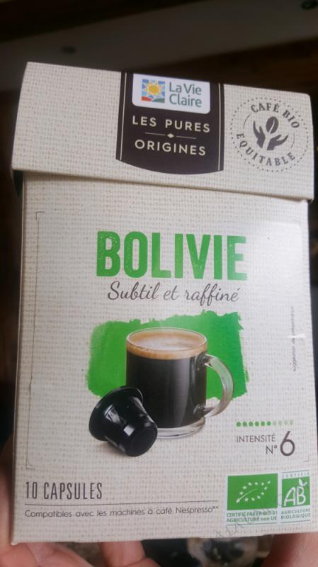 CAPSULES CAFE BOLIVIE INTENSITE 6 - X10
