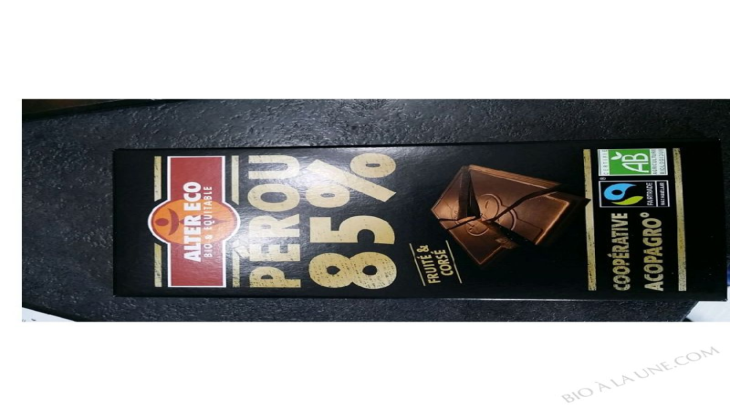 CHOCOLAT PÉROU 85% - 100G