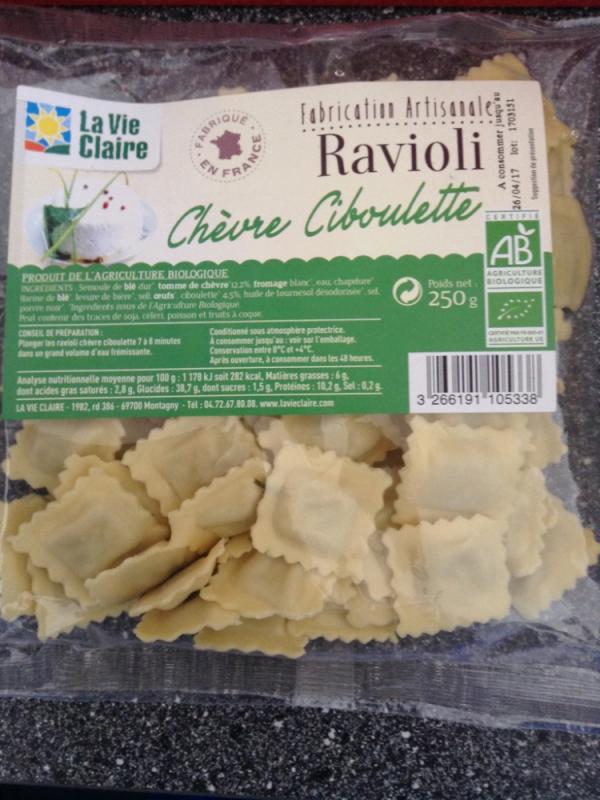 Ravioli chèvre ciboulette - 250gr