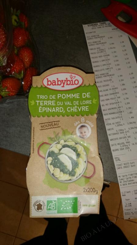 Petit plat Trio de Pomme de terre Epinard Chèvre dès 8 mois - 2x200g