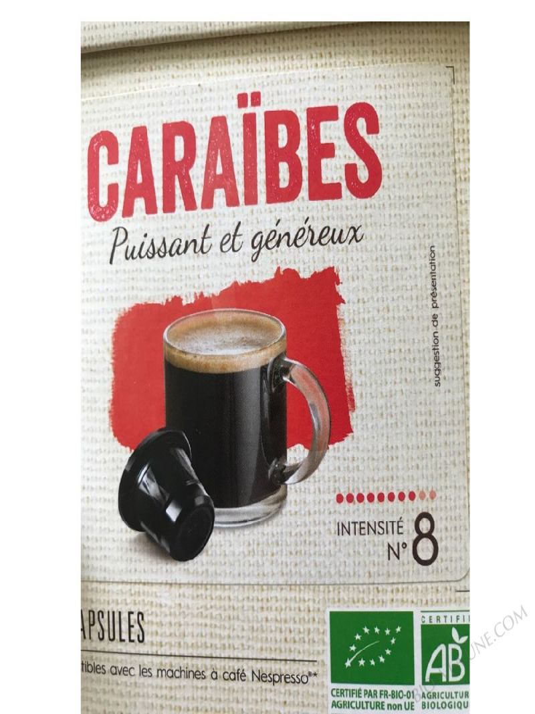 CAPSULES CAFÉ CARAÏBES X10