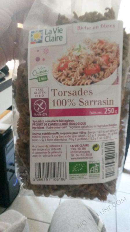 TORSADES 100% SARRASIN - 250G