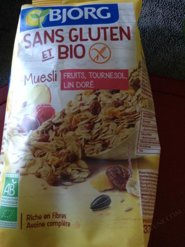 MUESLI FRUITS SANS GLUTEN ET BIO – 375G