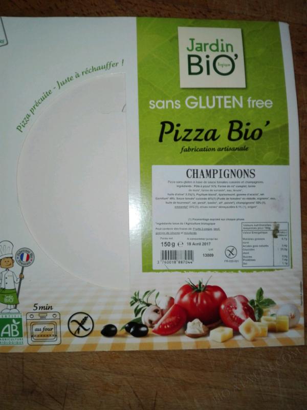 Pizza bio champignons sans gluten – 150g