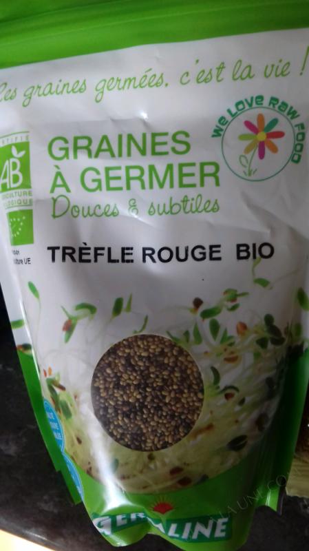 Graines trefle rouge bio à germer - 150g