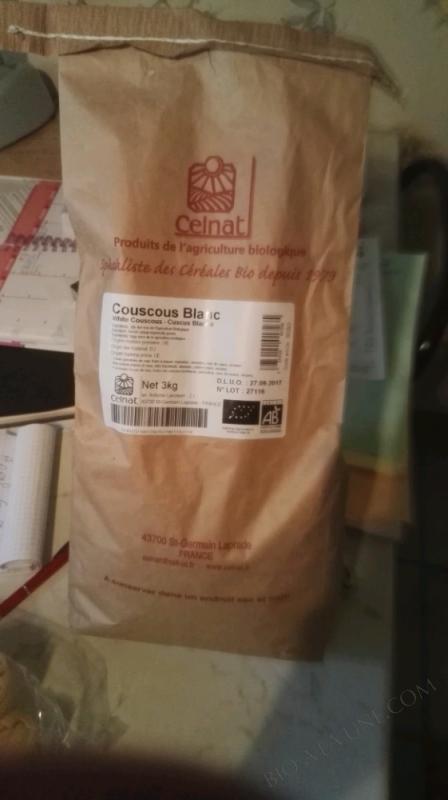 CELNAT Couscous blanc BIO - 3KG