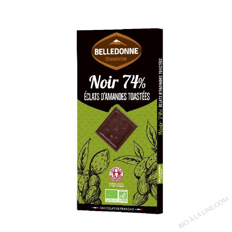 Tablette Chocolat noir 74% Eclats d'Amande Collection Dégustation