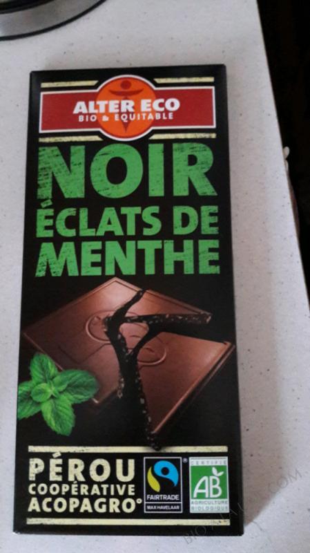 CHOCOLAT NOIR ÉCLATS MENTHE – 100g