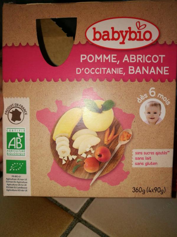 4 Gourdes Pomme Abricot Banane Des 6 mois