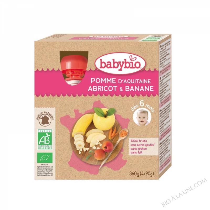 BABYBIO Gourde Pomme Abricot Banane