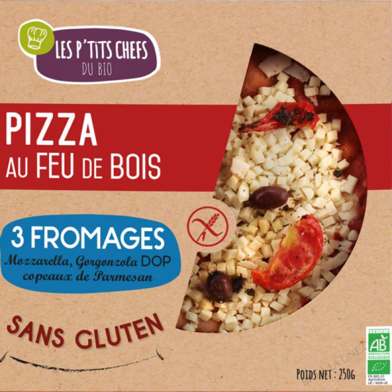 PIZZA AUX 3 FROMAGES SANS GLUTEN 250 G