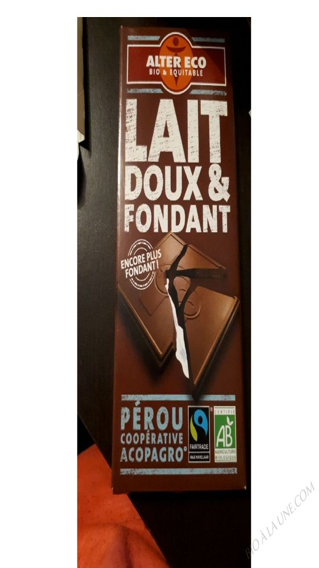 CHOCOLAT LAIT DOUX ET FONDANT – 100g