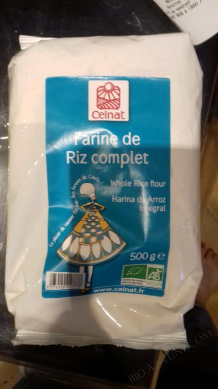 FARINE DE RIZ COMPLET – 500g