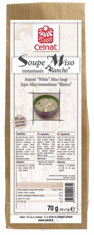 CELNAT Soupe Miso Instantanée \
