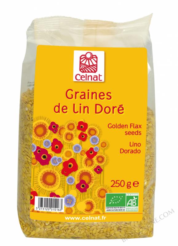 CELNAT Graines de Lin Doré BIO -250g
