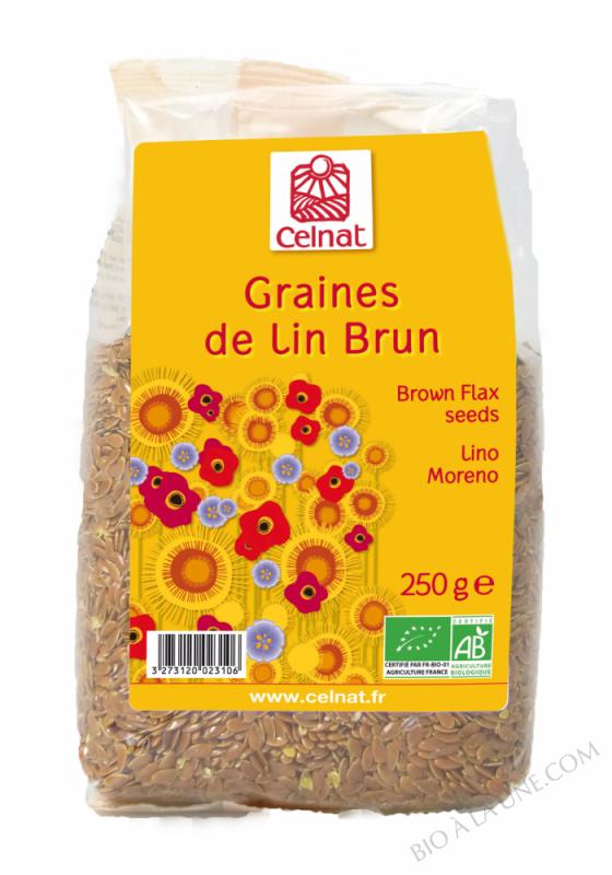 CELNAT Graines de Lin Brun BIO -250g