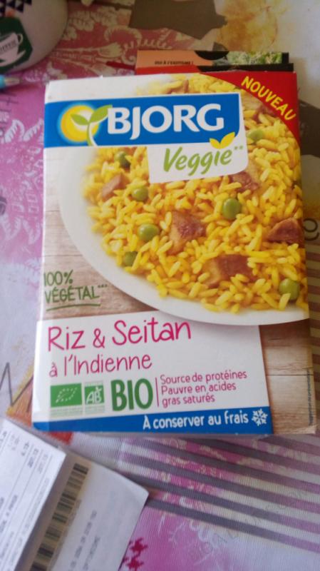 Riz & seitan à l'indienne - 250 g