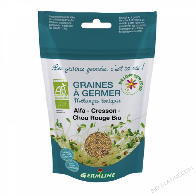 Alfalfa/Cresson/Chou rouge à germer 150g