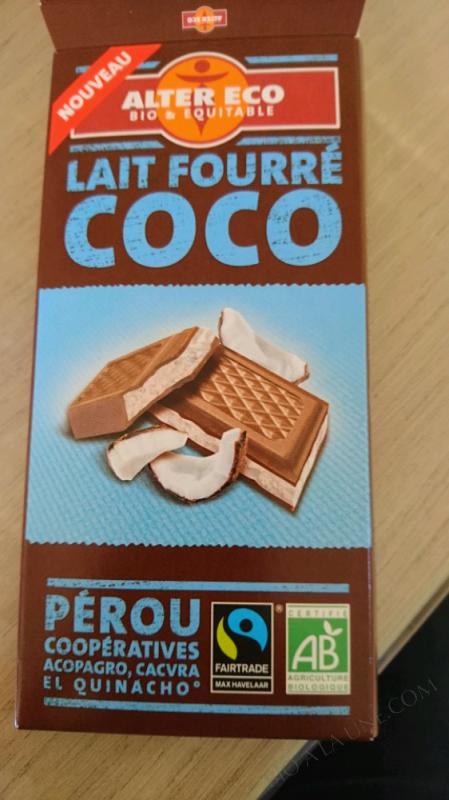 CHOCOLAT AU LAIT FOURRÉ COCO