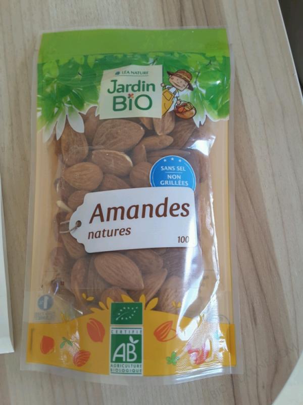 Amandes natures - Jardin Bio - 100 g