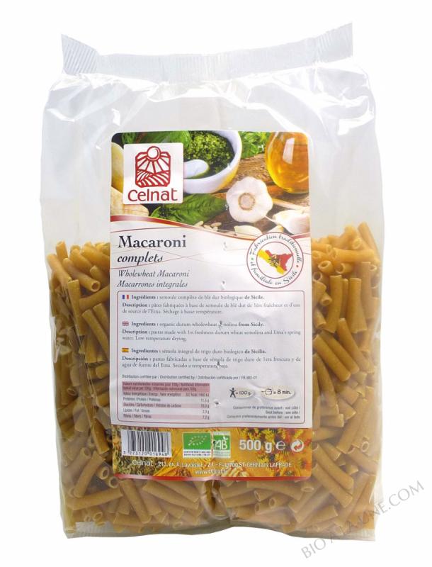 CELNAT Macaroni complèts BIO - 500g