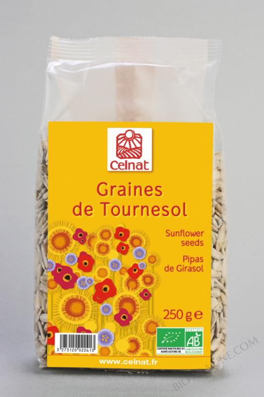 CELNAT Graines de Tournesol BIO - 25KG